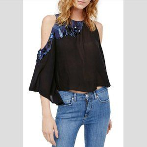 FREE PEOPLE All About You Embellished Blouse - S,L